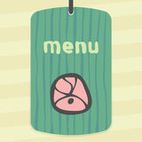 Vector outline meat cutting icon. Modern infographic logo and pictogram. Royalty Free Stock Photos
