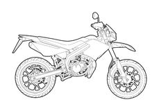Vector outline motorcycle Royalty Free Stock Photography