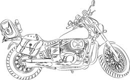 Vector outline a motorcycle stock illustration