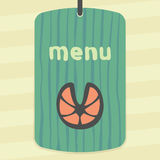Vector outline raw fish icon. Modern infographic logo and pictogram. Vector outline raw fish slice food icon on label with hand drawn striped background Stock Image