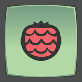 Vector outline strawberry fruit icon. Modern infographic logo and pictogram. Royalty Free Stock Photography