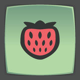 Vector outline strawberry fruit icon. Modern infographic logo and pictogram. Royalty Free Stock Photos