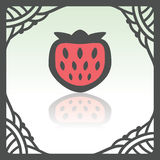 Vector outline strawberry fruit icon. Modern infographic logo and pictogram. Royalty Free Stock Images
