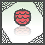 Vector outline strawberry fruit icon. Modern infographic logo and pictogram. Stock Images