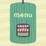 Vector outline sushi rice roll with raw fish meat salmon japan food icon. Stock Photo