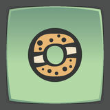 Vector outline sweet donut icon. Modern infographic logo and pictogram. Stock Photo