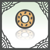 Vector outline sweet donut icon. Modern infographic logo and pictogram. Stock Photos