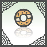 Vector outline sweet donut icon. Modern infographic logo and pictogram. Stock Image