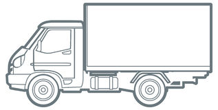 Vector outline truck Stock Image