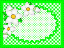 Vector Oval Border With Flowers And Copy Space Stock Photography