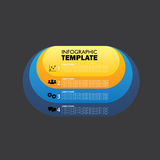 Vector oval infographic template for displaying options, choices. Steps. this can also be used for graph, presentation, round chart, business concept Royalty Free Stock Images