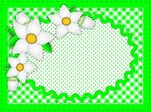 Vector Ovale Grens met Bloemen en de Ruimte van het Exemplaar Stock Fotografie