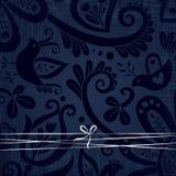 Vector overladen behang met discrete bloemenornamenten. Royalty-vrije Stock Afbeeldingen