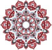 Vector overladen blauwe en rode mandalaillustratie Royalty-vrije Stock Foto