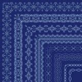 Vector overladen grenzen met buitenhoeken in Oostelijke stijl Royalty-vrije Stock Afbeelding