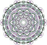 Vector overladen mandalaillustratie Vector Illustratie
