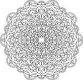 Vector overladen mandalaillustratie Stock Illustratie