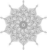 Vector overladen mandalaillustratie voor het kleuren van boek Stock Illustratie