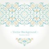 Vector overladen naadloze grens in Oostelijke stijl Stock Foto's