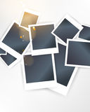 Vector overlapping blank photo frames Stock Photography
