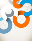 Vector overlapping curve multicolor lines background Royalty Free Stock Images
