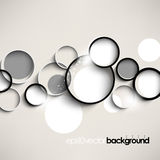 Vector overlapping geometric elements background Stock Images