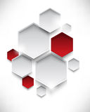 Vector overlapping hexagon background Stock Images