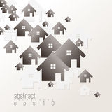 Vector overlapping house icon background Royalty Free Stock Photos