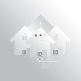 Vector overlapping house icon infographics background Royalty Free Stock Photography