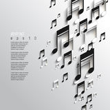 Vector overlapping music note background Royalty Free Stock Photo