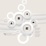 Vector overlapping rings infographics background Stock Photos