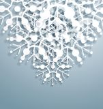 Vector Overlapping Snowflakes. 3d overlapping snowflakes, Christmas decoration element Stock Illustration