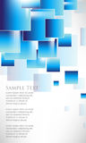 Vector overlapping square tiles blue background Stock Photography
