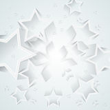 Vector overlapping stars background Stock Images