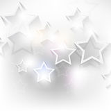 Vector overlapping stars background Royalty Free Stock Image
