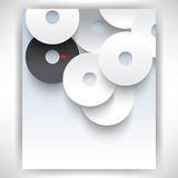 Vector overlapping white discs concept background Royalty Free Stock Images