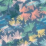 Vector overzees naadloos patroon met hand getrokken texturen Royalty-vrije Stock Fotografie