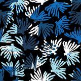 Vector overzees naadloos patroon met hand getrokken texturen Royalty-vrije Stock Foto