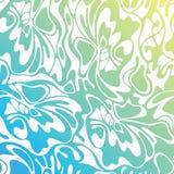 Vector overzeese van de kleurengolf achtergrond Blauwe abstracte overzees Stock Illustratie