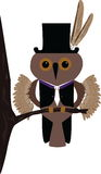 A vector owl. Comic vector image of a little owl royalty free illustration