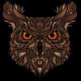 Vector owl from abstract patterns Royalty Free Stock Image