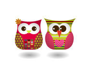 Vector of Owl Couple Stock Photos