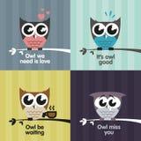 Vector owls Royalty Free Stock Photo