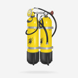 Vector Oxygen Cylinder Diving Royalty Free Stock Images