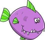Vector púrpura de los pescados Fotos de archivo