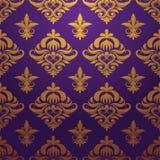 Vector púrpura del modelo del oro Imagen de archivo libre de regalías