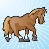 Vector Paard 2 van het Beeldverhaal Stock Afbeeldingen