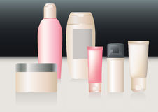 A vector pack of cosmetics. Stock Photography