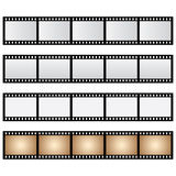 Vector pack film strip isolated. Vector pack film and old strip isolated Royalty Free Stock Photo
