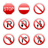 Vector pack traffic sign Royalty Free Stock Photography